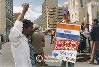 Right-wing protest, Cape Town