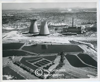 Cooling towers of Athlone power station, Cape Town