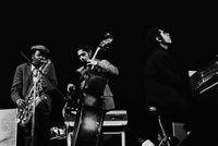 Jazz musicians, Winston 'Mankunku' Ngozi, Phil Schilder and Chris Schilder, Mbabane, Swaziland