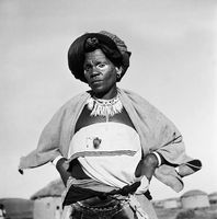 Xhosa woman in traditional dress, Transkei, South Africa