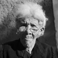 Portrait of an elderly woman, Genadendal, South Africa