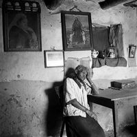Elderly woman in her home, Genadendal, South Africa