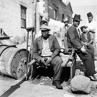 Men waiting, Genadendal, South Africa