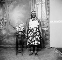 Studio portrait of Zulu woman