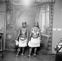 Studio potrait of Zulu women