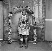 Zulu woman in traditional dress