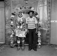 Zulu man and woman posing for a portrait
