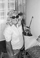 Arthur Bolton wearing a wig