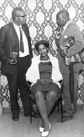 Two men and a woman posing, Eastern Cape, South Africa