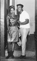 Couple posing on the stairs at formal event, Eastern Cape, South Africa