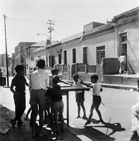Young boys playing in the street, District Six, Cape Town, South Africa