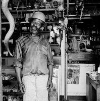 Elderly man in a muti store, Mai Mai market, Johannesburg, South Africa
