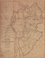 Congo Belge. Carte routiére officielle des territoires du Ruanda - Urundi