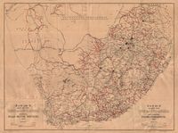 S.A.R. and H. map of the Union of South Africa shewing road motor services, 1942 = S.A.S. en H. kaart van Unie van Suid-Afrika aantonende padmotordienste, 1942