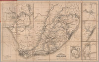 Bain's railway map of South Africa