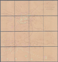 Plan aantoonende de posities van de burgermachten der Z.A.R. en O.V.S. bij Ladysmith en aan de Tugela, 15 Jan. 1900