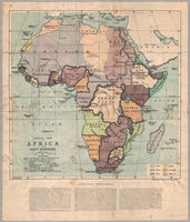 Special map of Africa showing treaty boundaries