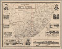 Illustrated map of South Africa