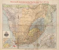 Politisch-militärische Karte von Süd-Afrika--[cartographic material] : zur Veranschaulichung der Kämpfe zwischen Buren und Engländern bis zur Gegenwart : mit statistischen Begleitworten : SüdAfrika vom Politisch-militärischen Standpunste