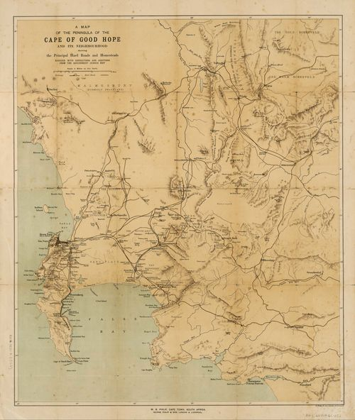 A map of the peninsula of the Cape of Good Hope, and its ...
