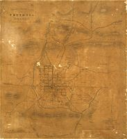 Compass sketch plan of Pretoria, Transvaal
