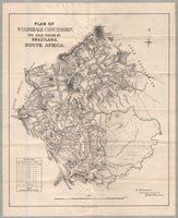 Plan of Wyldsdale concession, the gold fields of Swaziland, South Africa