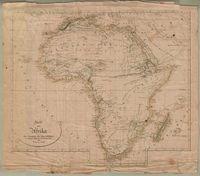 Karte von Afrika als Übersicht der Specialblätter zu C. Ritter's Erdkunde