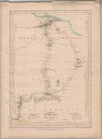 Map of part of northern Africa showing the routes of the expedition under Messrs Richardson, Barth, Overweg & Vogel in the years 1850 and 1853