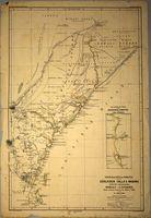 Originalkarte des Gebietes der südlichen Galla & Waboni nebst den angrenzenden Somali-Ländern