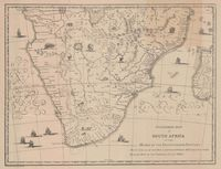 Standard map of South Africa of the middle of the seventeenth century