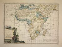 L'Africa divisa ne suoi principali stati di nuova projezione