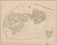 Garden Cities plan of Pinelands showing the development to October 1948
