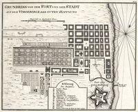 Grundriss von dem Fort und der Stad auf dem Vorgebirge gutten Hoffnung