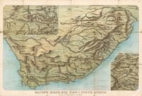 Bacon's bird's-eye view of South Africa with enlarged views of Natal, and Mafeking to Pretoria