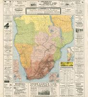 The railway map of South Africa