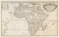 Africa divided according to the extent of its principall parts in which are distinguished one from the other empires, monarchies, kingdoms, states, and peoples, which at this time inhabite Africa