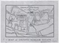 Map of Groote Schuur estate