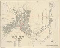 Plan of Cape Town, South Africa, 1897