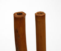 Open single end-blown flutes without fingerholes (two)