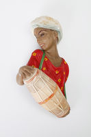 Plaster figurine of drum player