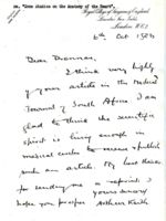 Correspondence between  Sir Arthur Keith and Matthew Drennan, 6 October 1926 - 1 July 1930