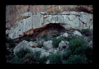 Image from rock painting site. Site of Kanetvlei 2, Hex River Valley, Western Cape, South Africa.