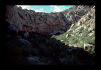 Image from rock painting site. Site of Kanetvlei  4, Hex River Valley, Western Cape, South Africa..