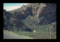 Image from rock painting site. Site of Kanetvlei  5, Hex River Valley, Western Cape, South Africa.