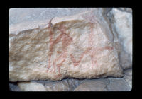Image from rock painting site,  Bainskloof Pass 1, Western Cape, South Africa.