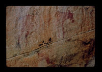 Image from rock painting site, Western Cape, South Africa.