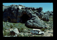 Image from rock painting site. Site of Anysberg Forest Reserve II, Western Cape, South Africa.