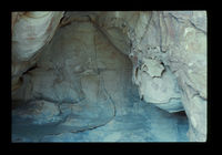 Image from rock painting site. Anysberg Forest Reserve (ANY 3), Western Cape, South Africa.