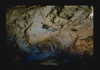 Image  from rock painting site. Site of Tradouw Pass Cave, Swellendam, South Africa.