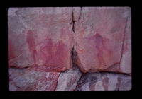 Image  from rock painting site. Site of Bartmansfontein, Swartberg Mountain range, Western Cape, South Africa.